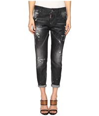 Dsquared Skin Biker Pants Five Pockets Black Women's Casual Pants
