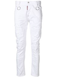 Dsquared2 Low Rise Skinny Jeans White