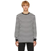 Golden Goose Black And White Stripes T Shirt