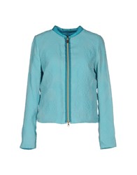 Geospirit Coats And Jackets Jackets Women Turquoise