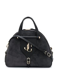 Jimmy Choo Varenne Bowling Medium Tote Black