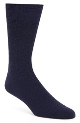 Cole Haan Men's Distorted Texture Crew Socks Marine Blue