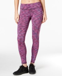 Ideology Space Dyed Training Leggings Only At Macy's Holiday Multi