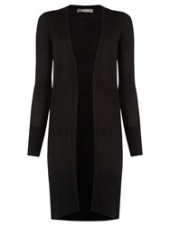 Oasis Ribbed Trim Longline Cardigan Black