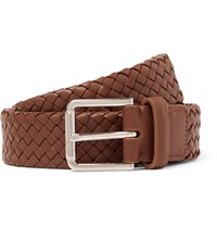 Loro Piana 3Cm Brown Woven Leather Belt Brown