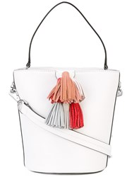 Rebecca Minkoff Sofia Bucket Tote Women Leather One Size White