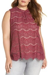 Love Fire Plus Size Lace Top Hawthorn Rose