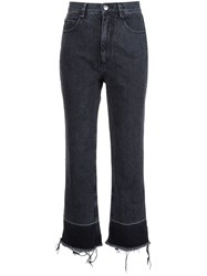 Rachel Comey Frayed Cropped Jeans Black