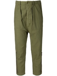 Nlst Cropped Cargo Trousers Green