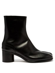 Maison Margiela Tabi Split Toe Leather Boots Black