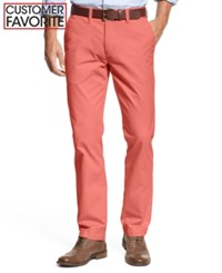 Tommy Hilfiger Men's Slim Fit Stretch Chino Pants Sconset Red