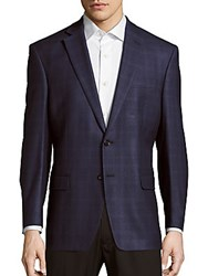 Lauren Ralph Lauren Checked Silk Blend Sportcoat Navy