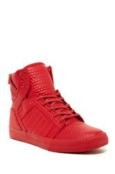 Supra Skytop High Top Sneaker Red