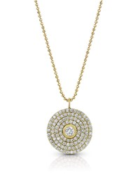 Dominique Cohen 18K Gold Mosaic Diamond Pendant Necklace Large