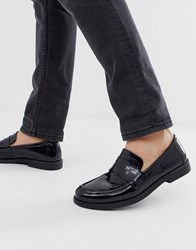 Zign High Shine Loafers In Black