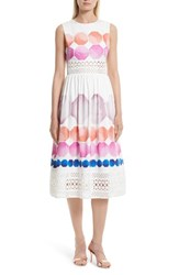 Ted Baker Women's London Serinah Stretch Cotton Midi Dress White