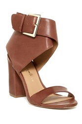 Bettye Muller Wilton Ankle Cuff Heel Sandal Brown