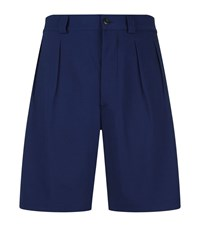 Christopher Kane Tailored Pleated Shorts Male Blue