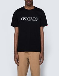 Wtaps Bracket Tee In Black