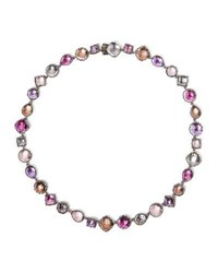 Larkspur And Hawk Small Sadie Riviere Necklace In Multi Sweet Pea Foil