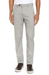 5826e6448 Ted Baker Men s Big And Tall London Modern Slim Fit Trousers Light Grey