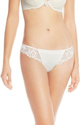 Women's Simone Perele 'Wish' Embroidered Tanga Thong