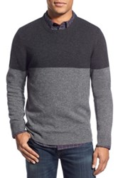 1901 Colorblock Knit Merino Wool And Cashmere Sweater Gray