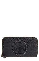 Tory Burch Women's Perforated Logo Zip Continental Wallet