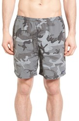 Patagonia Men's Baggies Longs Swim Trunks Camo Forge Grey
