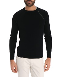 Ikks Black Round Neck Sweater