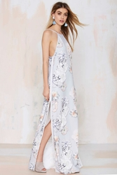 Nasty Gal Finders Keepers Check The Rhyme Maxi Dress