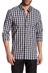 Peter Werth Faraday Plaid Trim Fit Shirt Blue