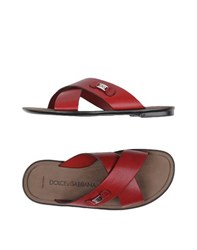 Dolce And Gabbana Footwear Sandals Men Red