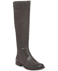 Jessica Simpson Randee Tall Wide Calf Boots Women's Shoes Greytastic Leather