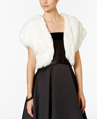 Tahari By Arthur S. Levine Asl Faux Fur Shrug White
