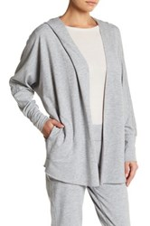 Nanette Lepore Beaded French Terry Cardigan Gray