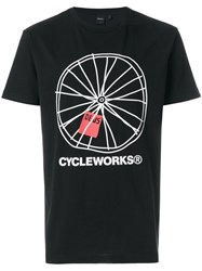 Deus Ex Machina Cycleworks T Shirt Black