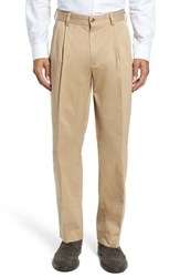 Bills Khakis Men's Big And Tall Classic Fit Pleat Front Chamois Cloth Pants Camel