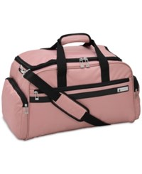 London Fog Southbury 22 Cargo Duffel Bag Created For Macy's Rose Gold