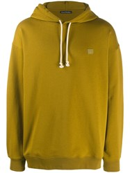 Acne Studios Face Motif Patch Hoodie Green