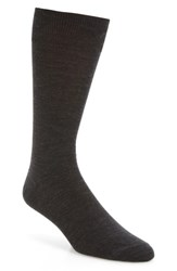 Lorenzo Uomo Men's Merino Wool Blend Socks Charcoal