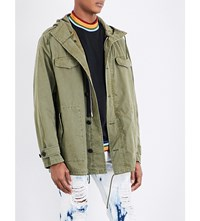 Palm Angels Jessica Cotton Blend Parka Jacket Military Green Multi