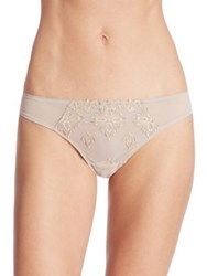 Chantelle Champs Elysse String Peacock Lace Thong Mineral Grey Yellow