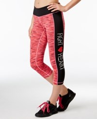 Ideology Go Red For Women Space Dyed Cropped Leggings Only At Macy's
