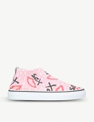 Casbia Man Sex Skateboards Woven Trainers Pink