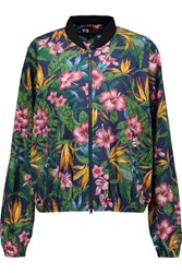 Y 3 Printed Cotton Bomber Jacket Green