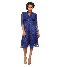 Kiyonna Mademoiselle Lace Dress Sapphire Blue Women's Dress