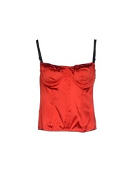 P.A.R.O.S.H. Topwear Tube Tops Women Red