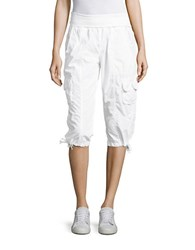 Calvin Klein Cotton Cargo Pants White