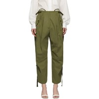 Givenchy Green Military Cargo Trousers